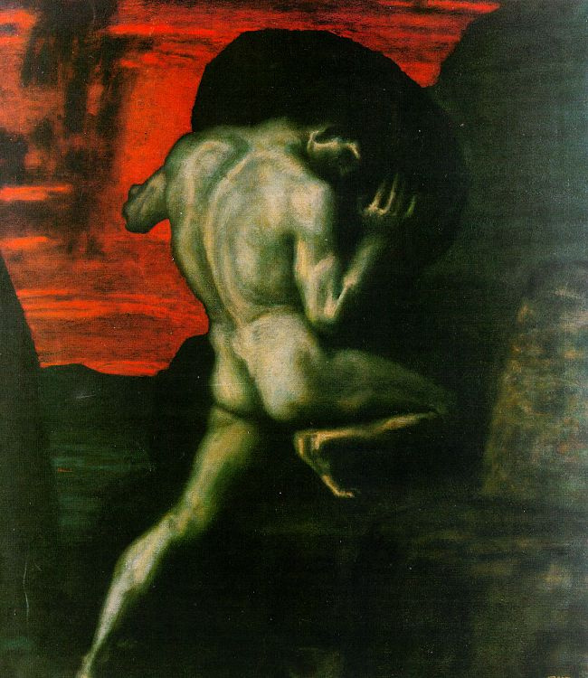 Franz von Stuck. A naked man