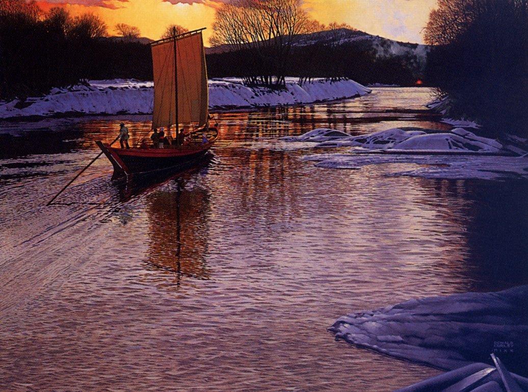 Дональд Керли. Йорк лодка