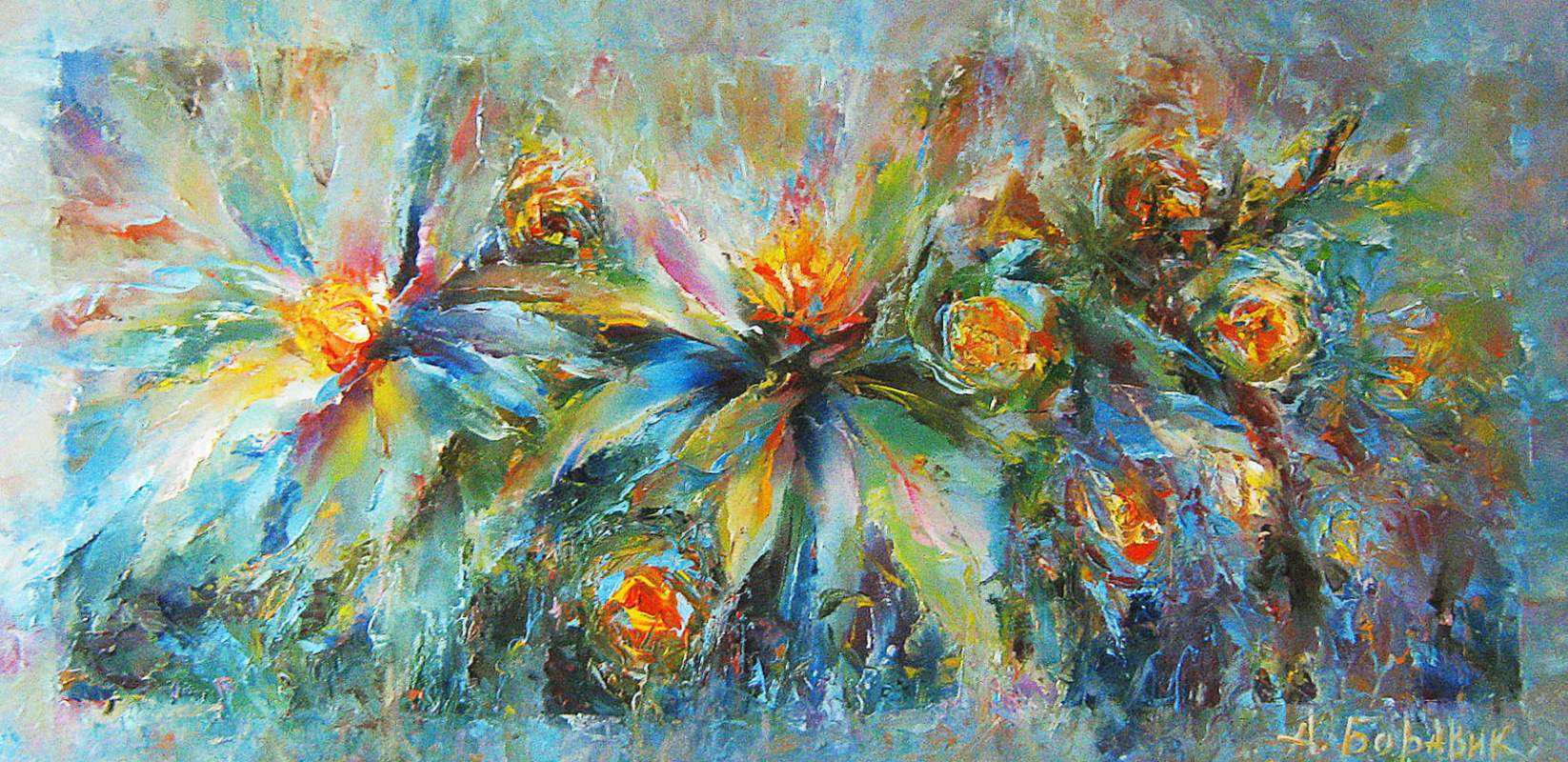 Andrei Ivanovich Boravik. Lilies and water lilies