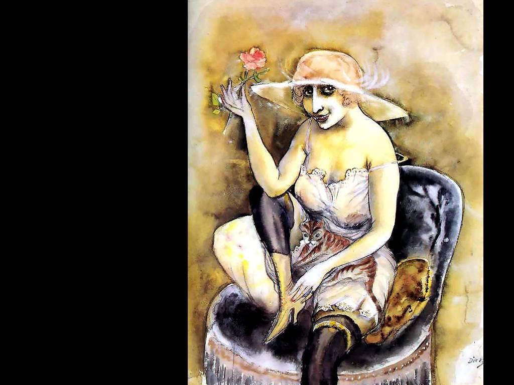 Отто Дикс. Девушка с розой