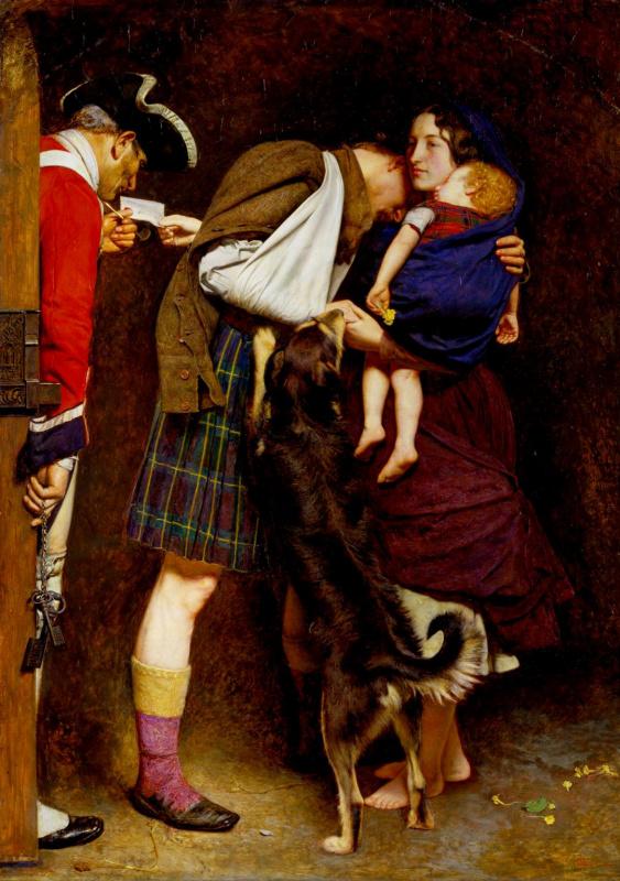 John Everett Millais. The order of release