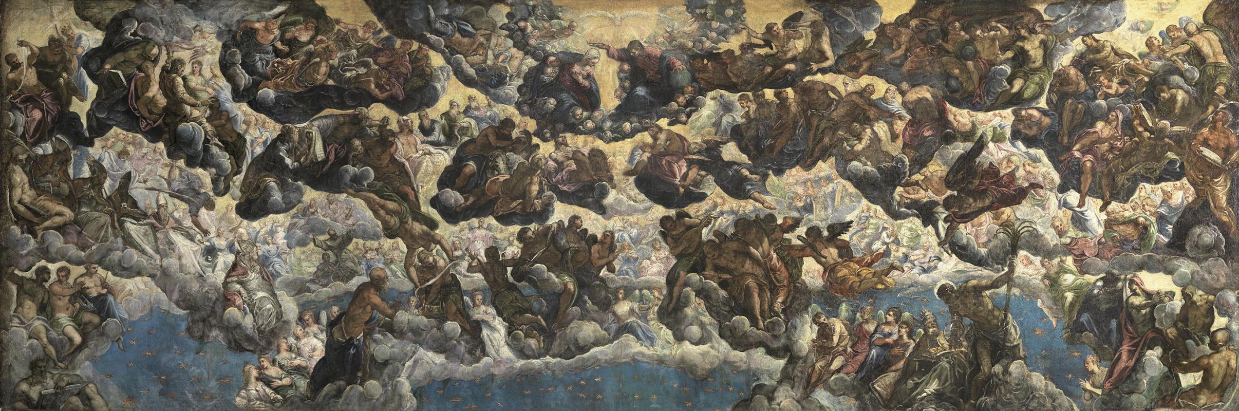 Якопо Тинторетто. Рай. Эскиз росписи главного зала Дворца дожей в Венеции