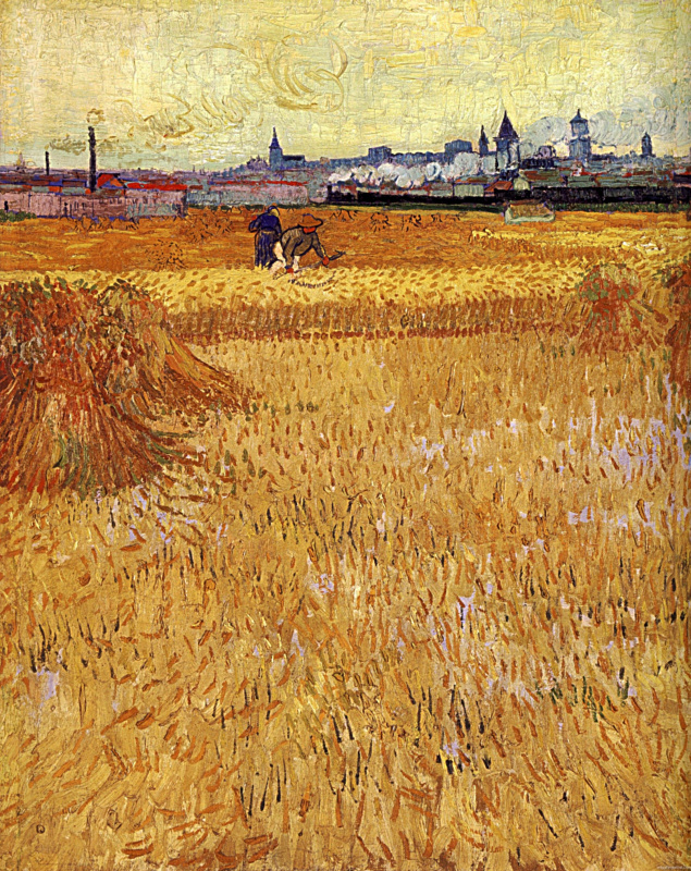 Vincent van Gogh. Arles: view from the wheat fields