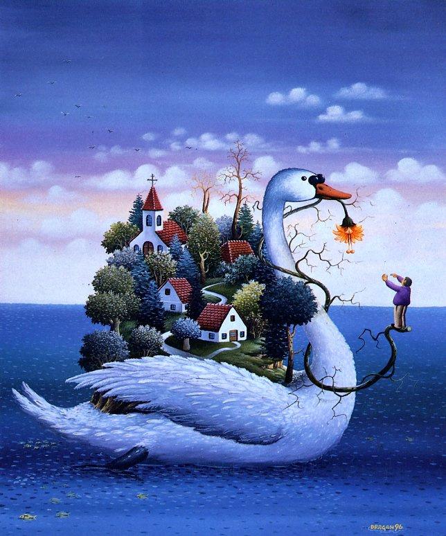 Драган Михайлович. Белый лебедь