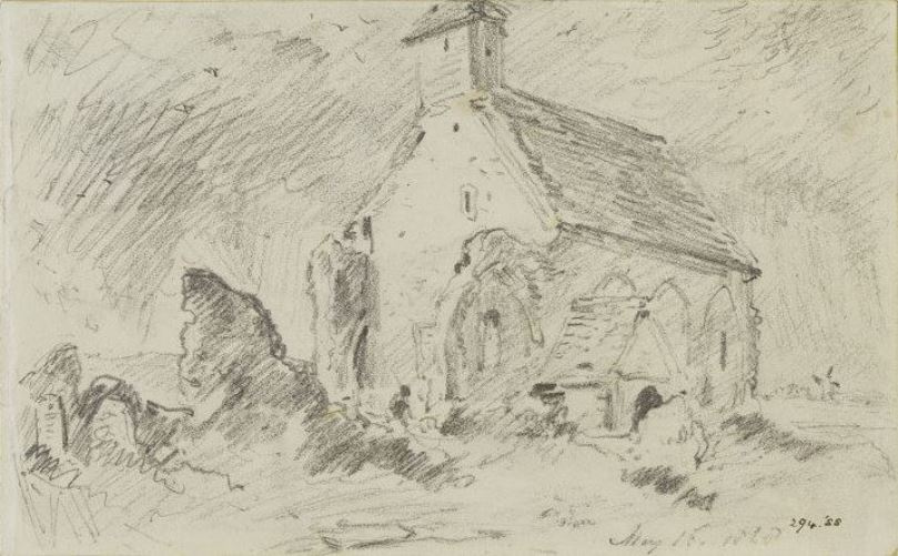 John Constable. The old parish Church in Hove