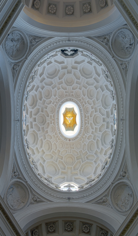 Francesco Borromini. The ceiling of the church of San Carlo alle Cuatro Fontane