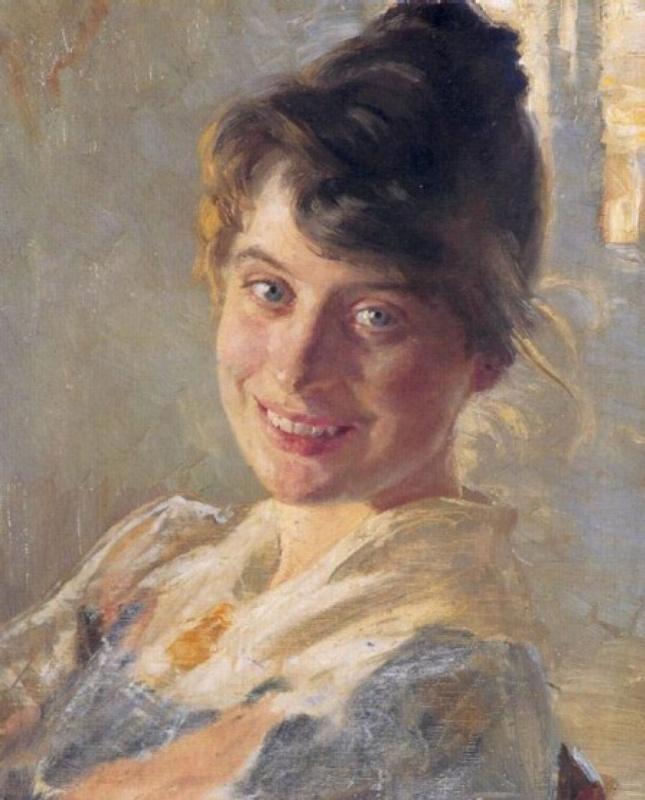 Педер Северин Крёйер. Портрет жены художника Мари