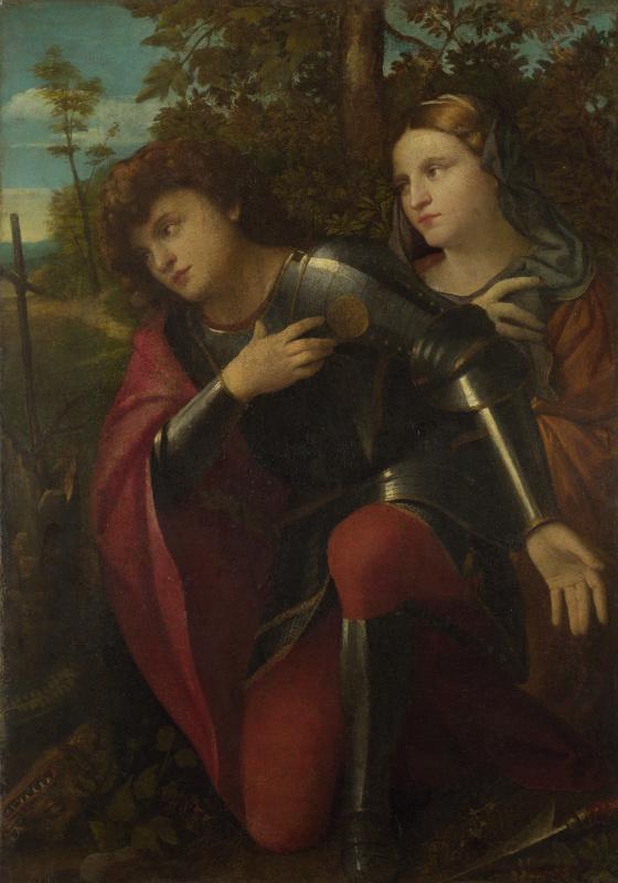 Пальма Веккьо. Святой Георгий и святая