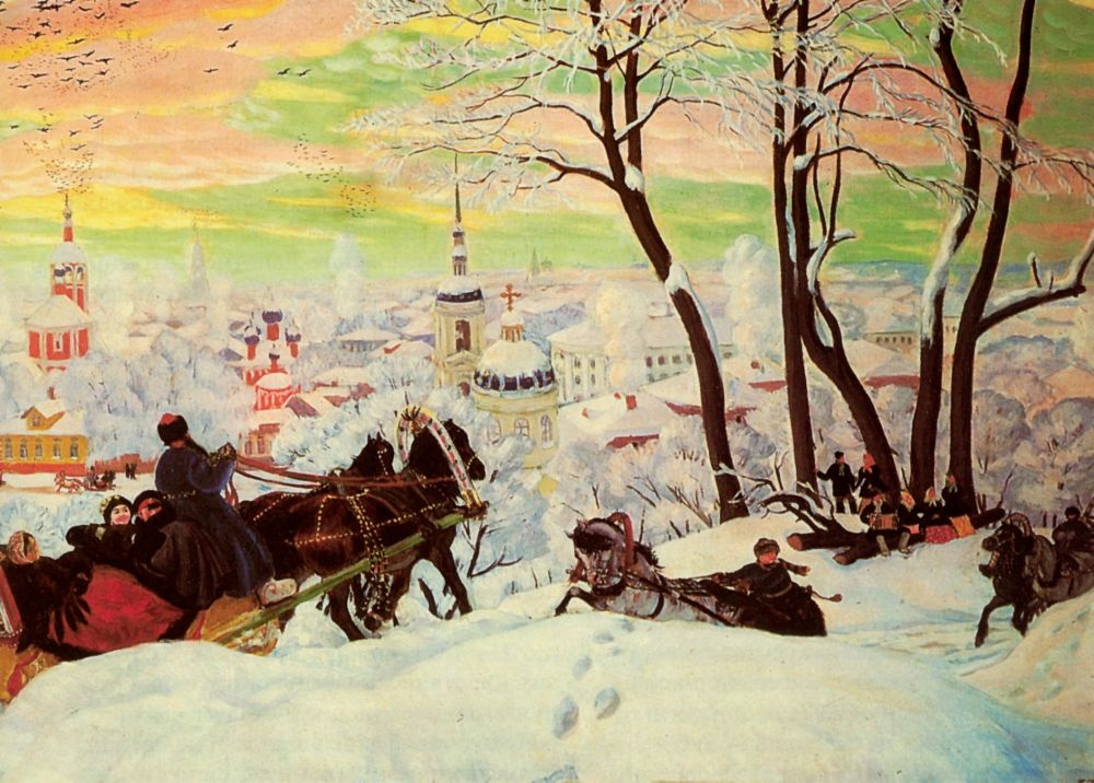 Борис Михайлович Кустодиев. Масленица. Фрагмент