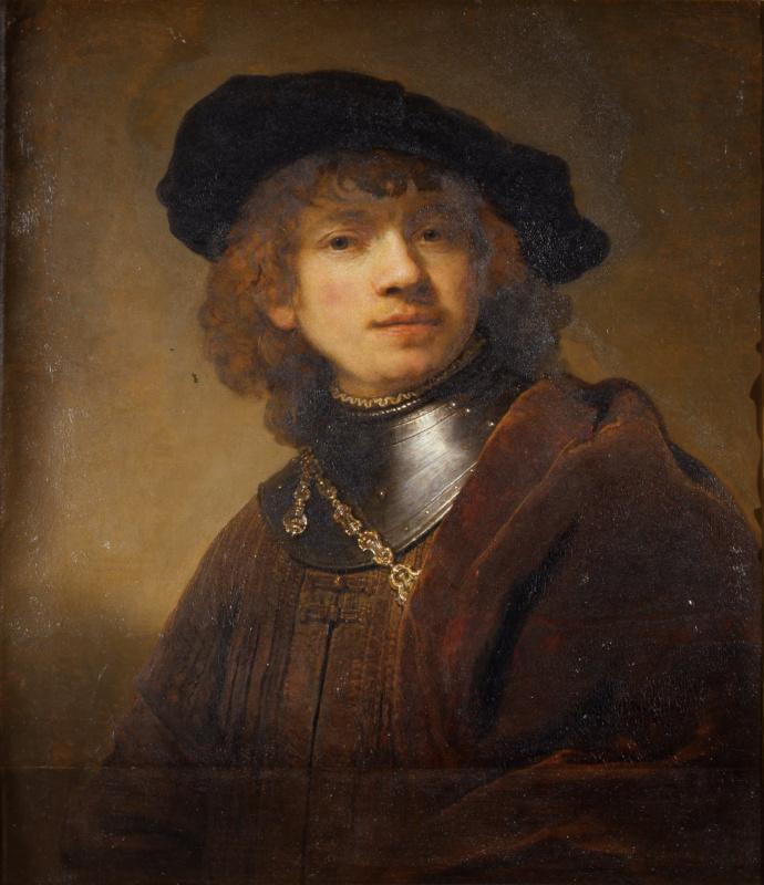 Rembrandt Harmenszoon van Rijn. Youthful self-portrait