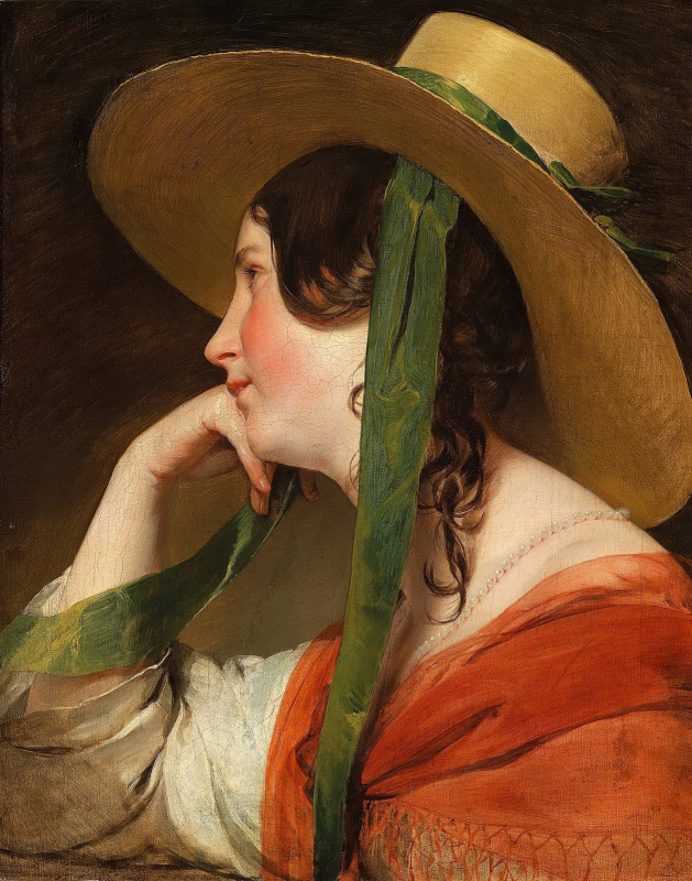 Фридрих фон Амерлинг. Девушка в широкополой шляпе. 1835
