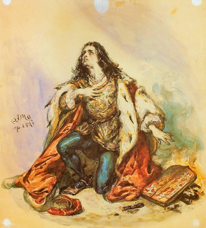 Ян Матейко. Святой Казимир, королевич Польши