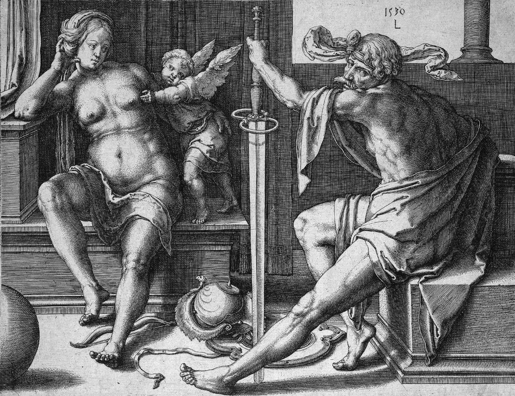 Лукас ван Лейден (Лука Лейденский). Марс, Венера и Купидон