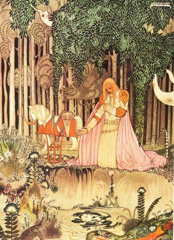 Кей Нильсен. Иллюстрация к  сказке  На восток от солнца, на запад от луны 07