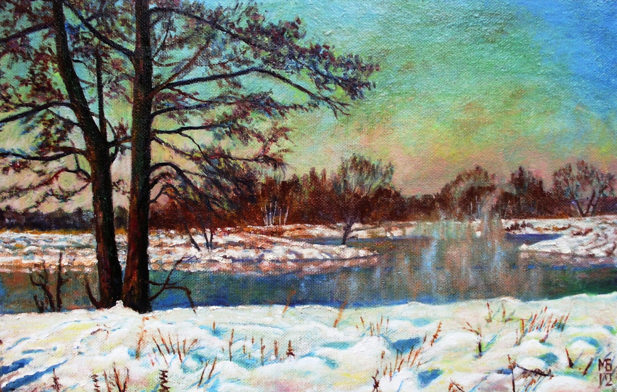Boris Alexandrovich Mandrykin. The Pakhra river