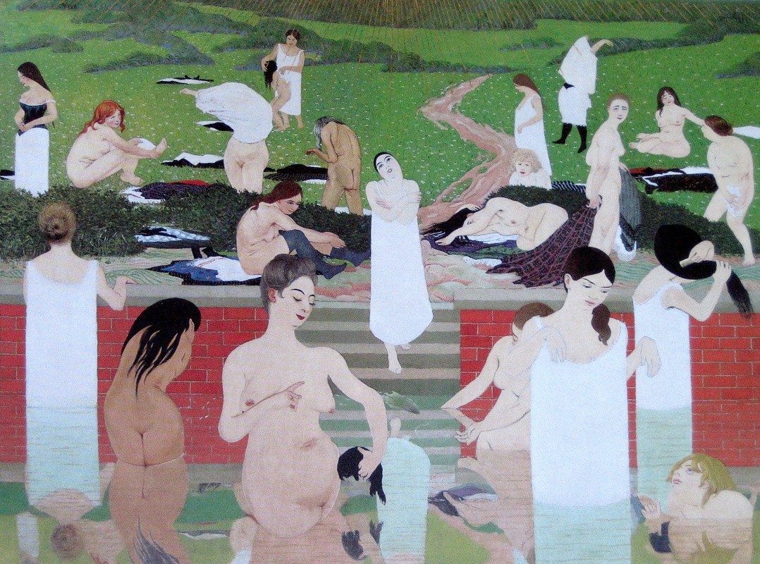 Felix Vallotton. Bathing. Summer evening