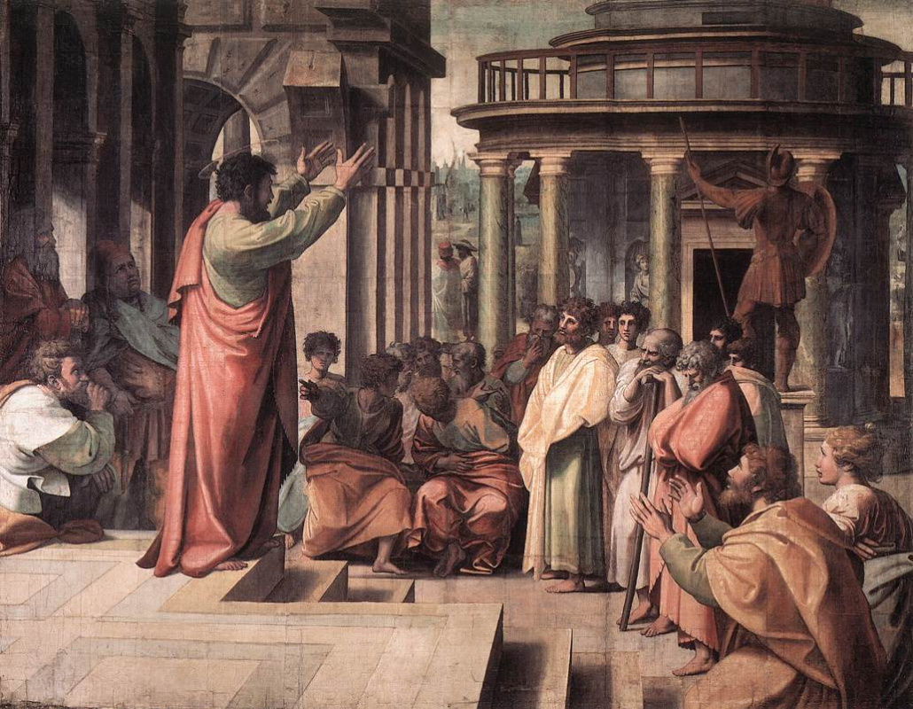 Рафаэль Санти. Св. павел. Проповедь в Афинах
