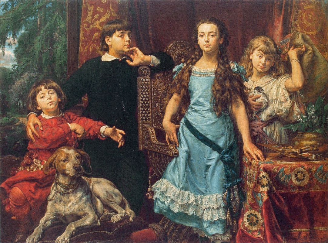 Jan Matejko. Portrait of four children of the artist