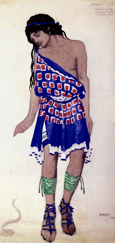 Lev (Leon) Bakst. Costume design Orpheus ballet Roger-Ducasse
