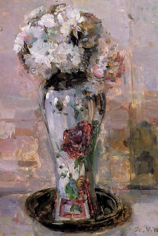 Флорис Верстер. Китайская ваза с цветами