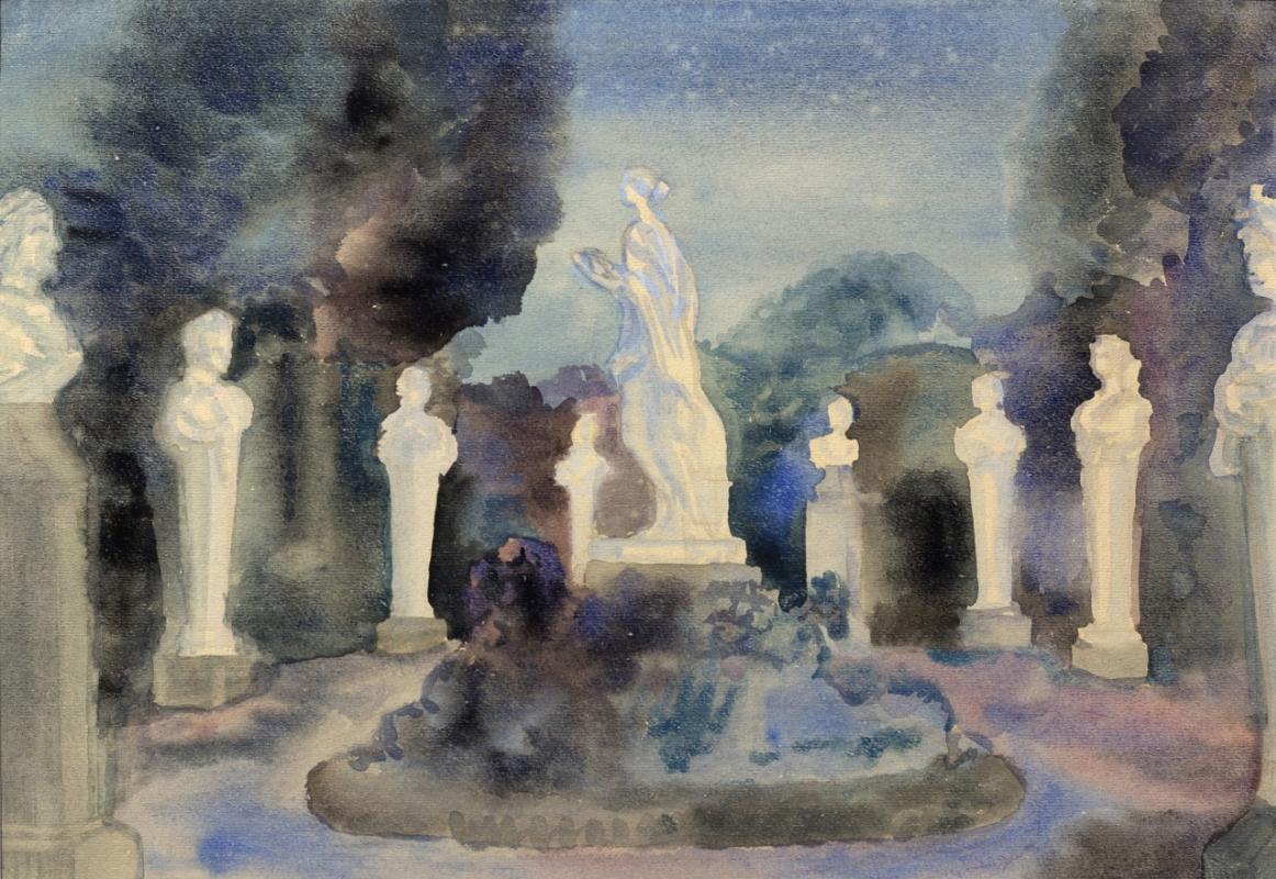Tatyana Nikolaevna Glebova. Gatchina. Palace. Private garden