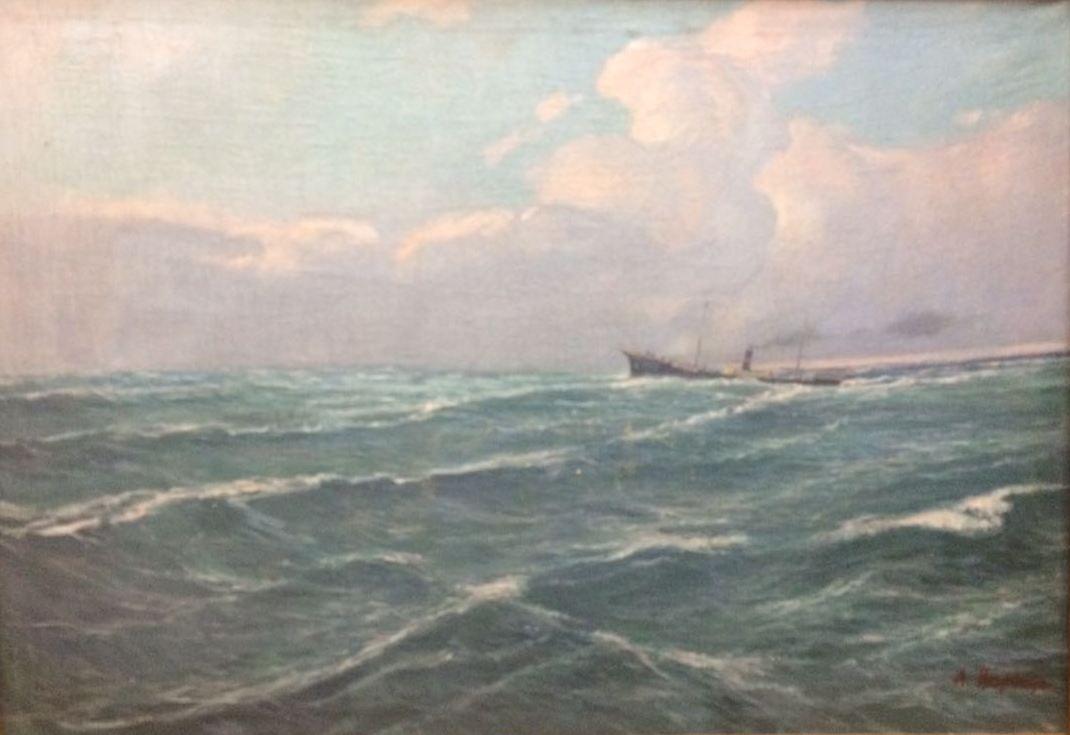 Aron Il'ich Ryvkin. In the open sea