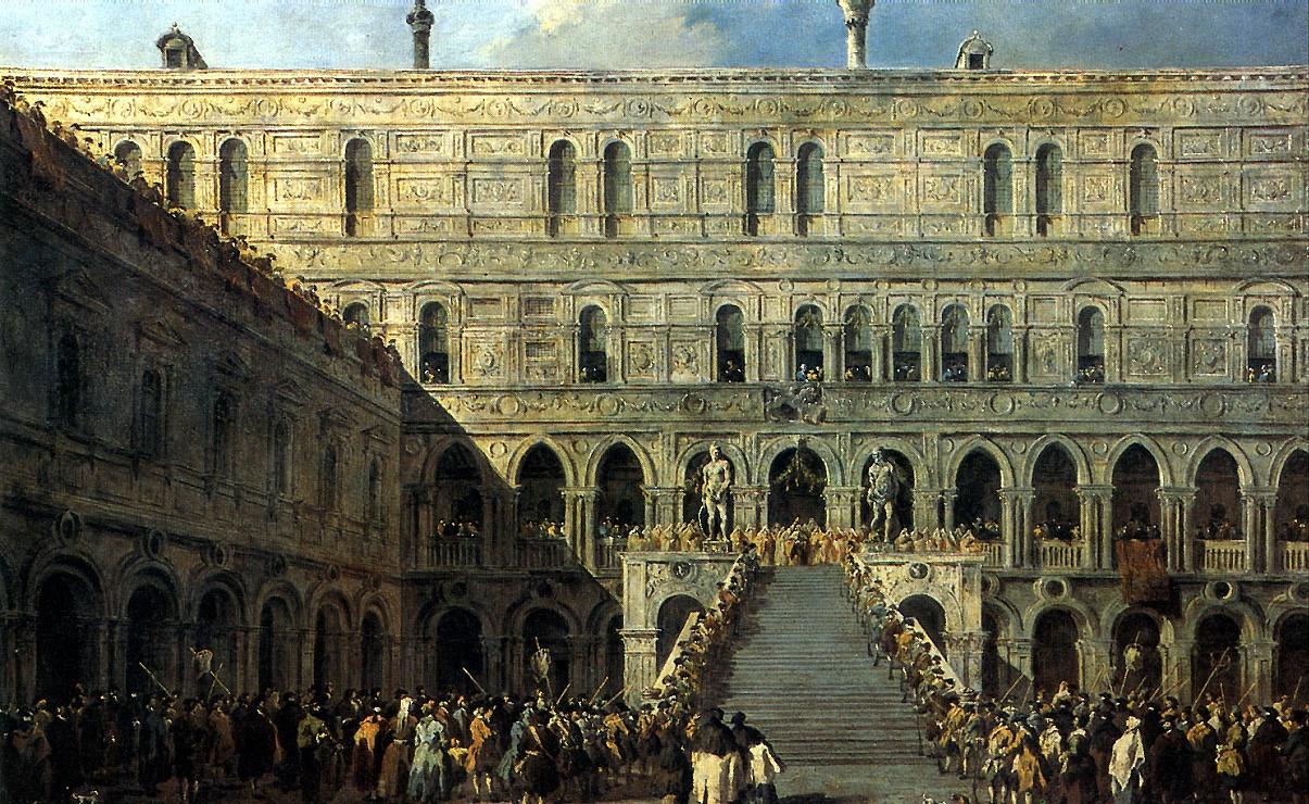 Франческо Гварди. Коронация дожа на Лестнице гигантов во Дворце дожей