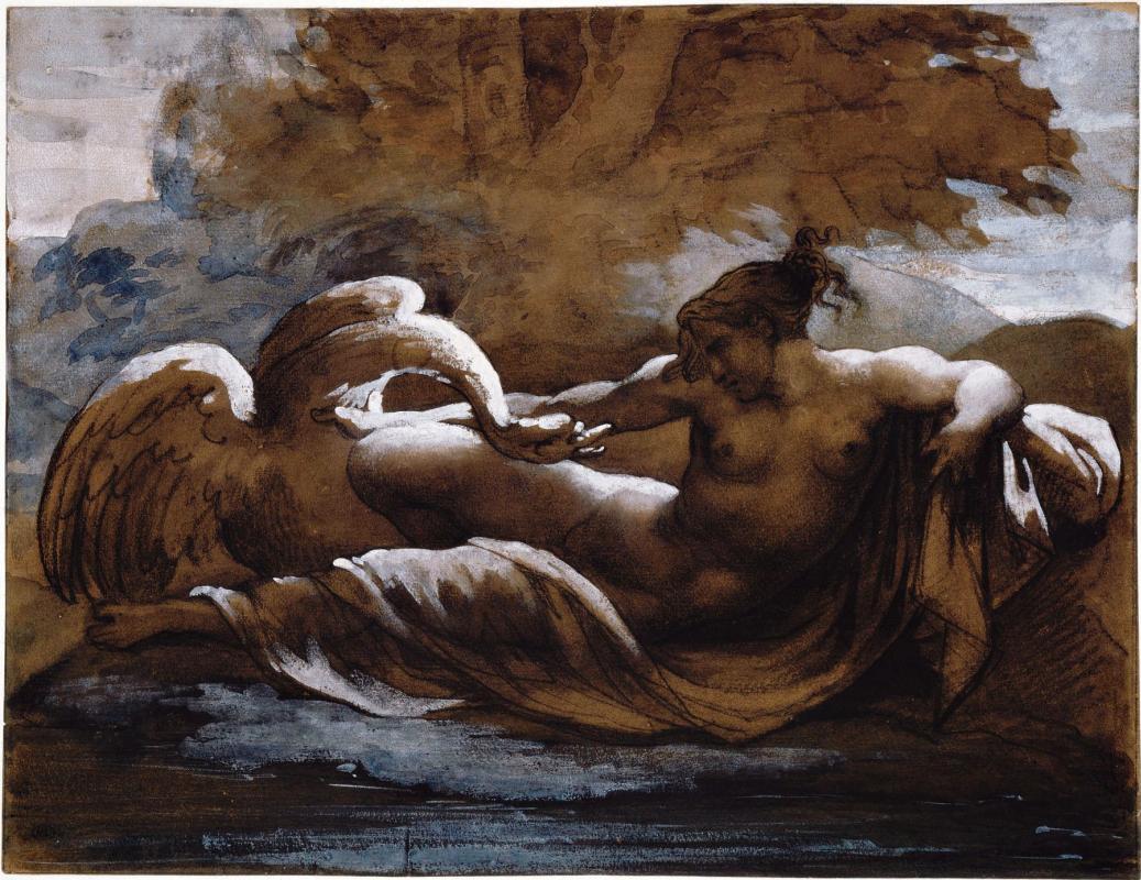 Théodore Géricault. Leda and the Swan