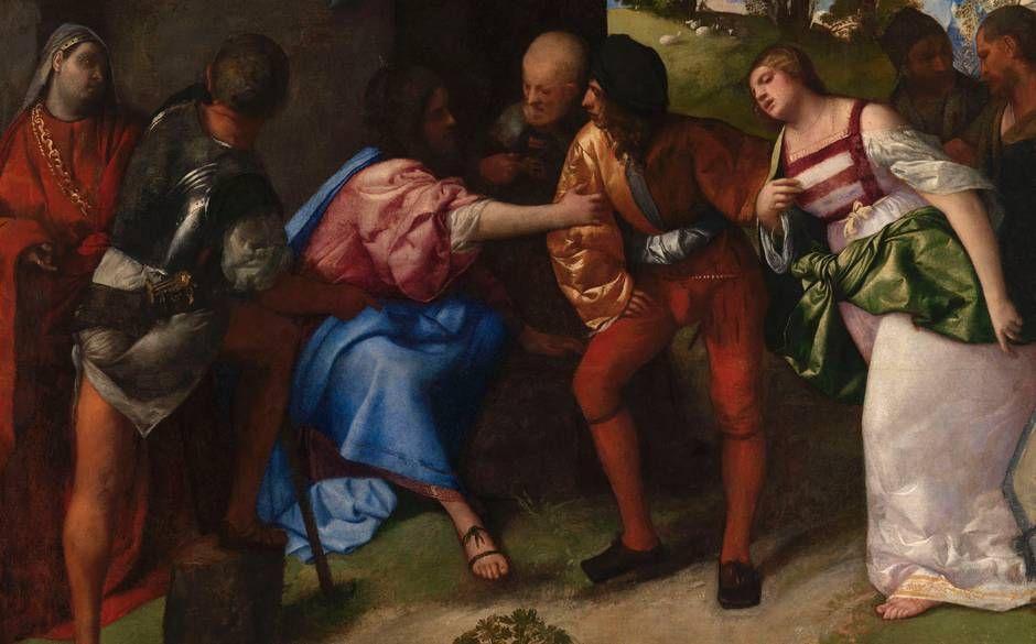 Тициан Вечеллио. Христос и блудница