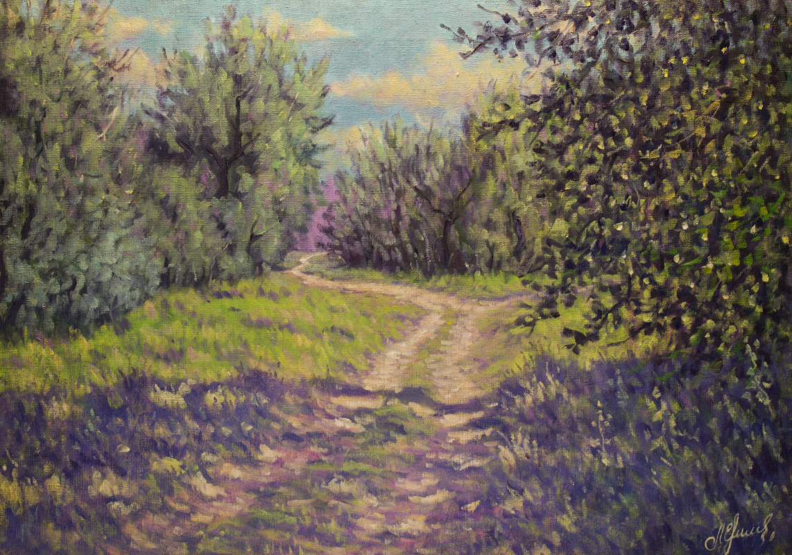 Valery Levchenko. No. 419 In the forest of the Akhtuba floodplain