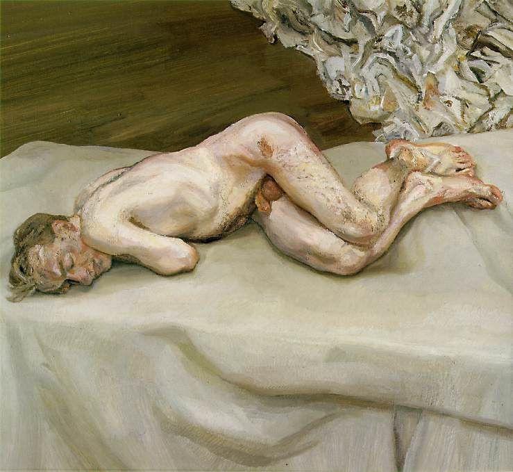 Люсьен Фрейд. Обнажённый на кровати