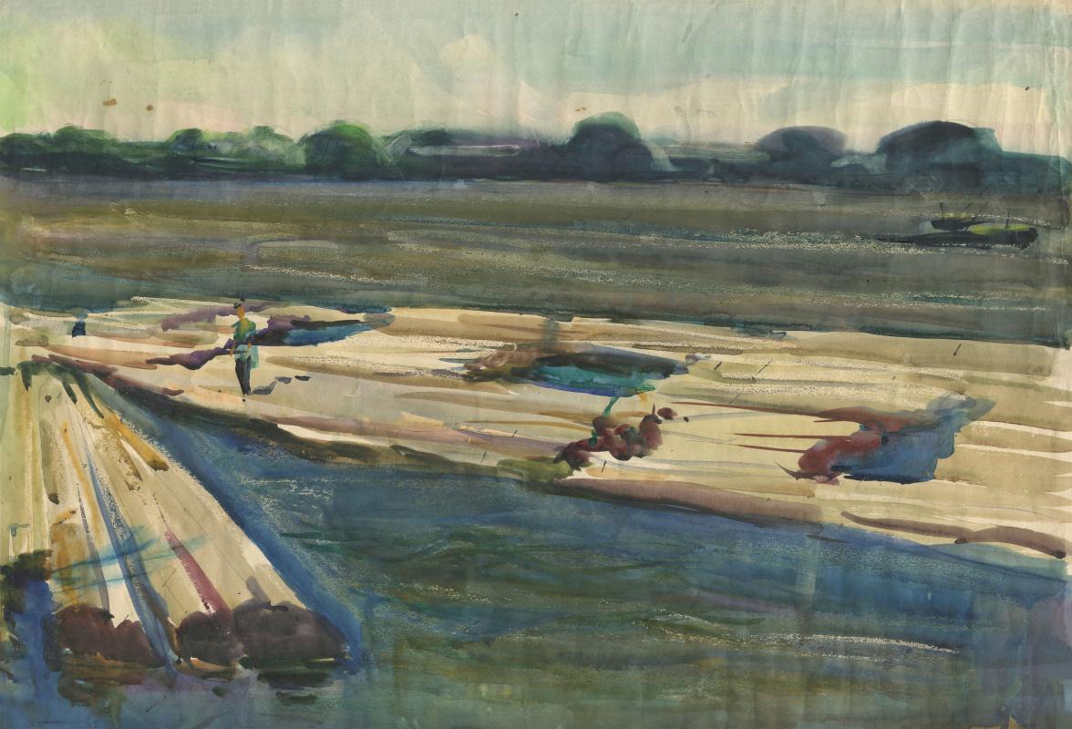 Alexandrovich Rudolf Pavlov. Series of watercolors Astrakhan, No. 6. Alloy logs.