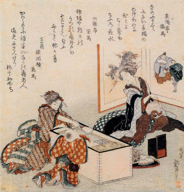 Кацусика Хокусай. Первый чай