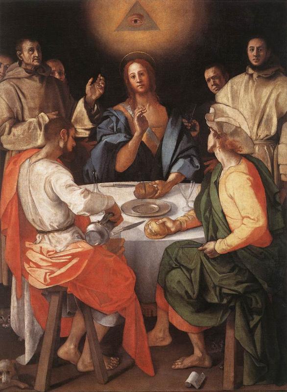 Jacopo Pontormo. Supper at Emmaus