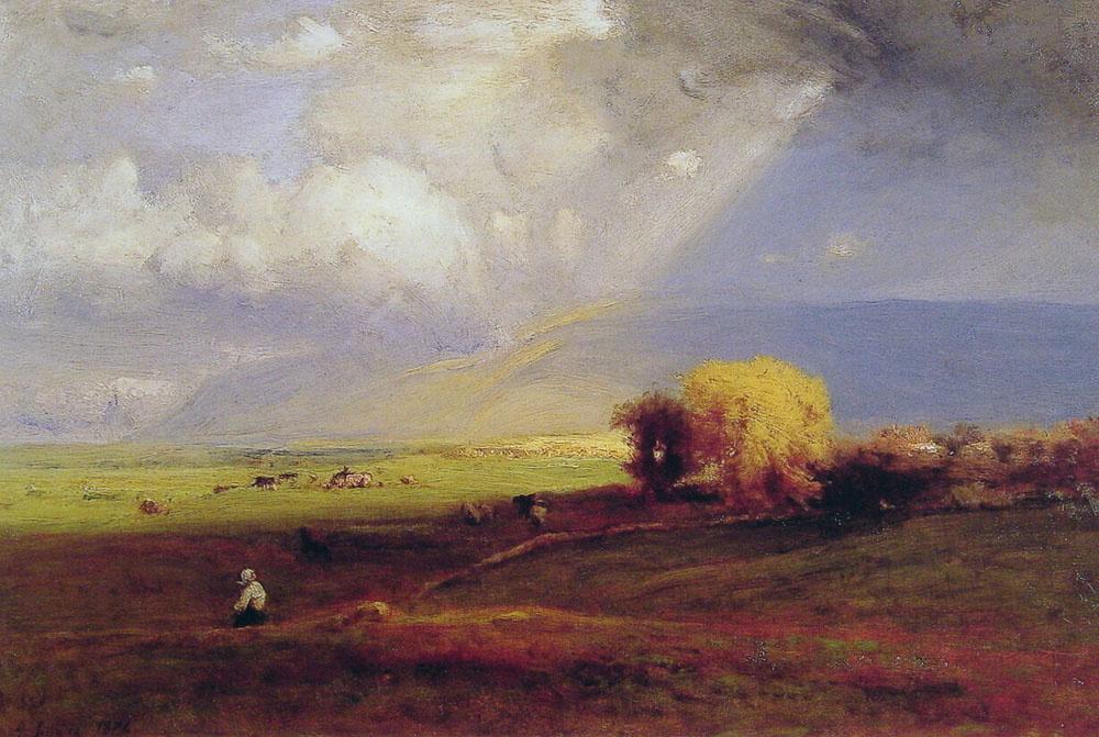 Джордж Иннесс. Попутные облака несущие ливень