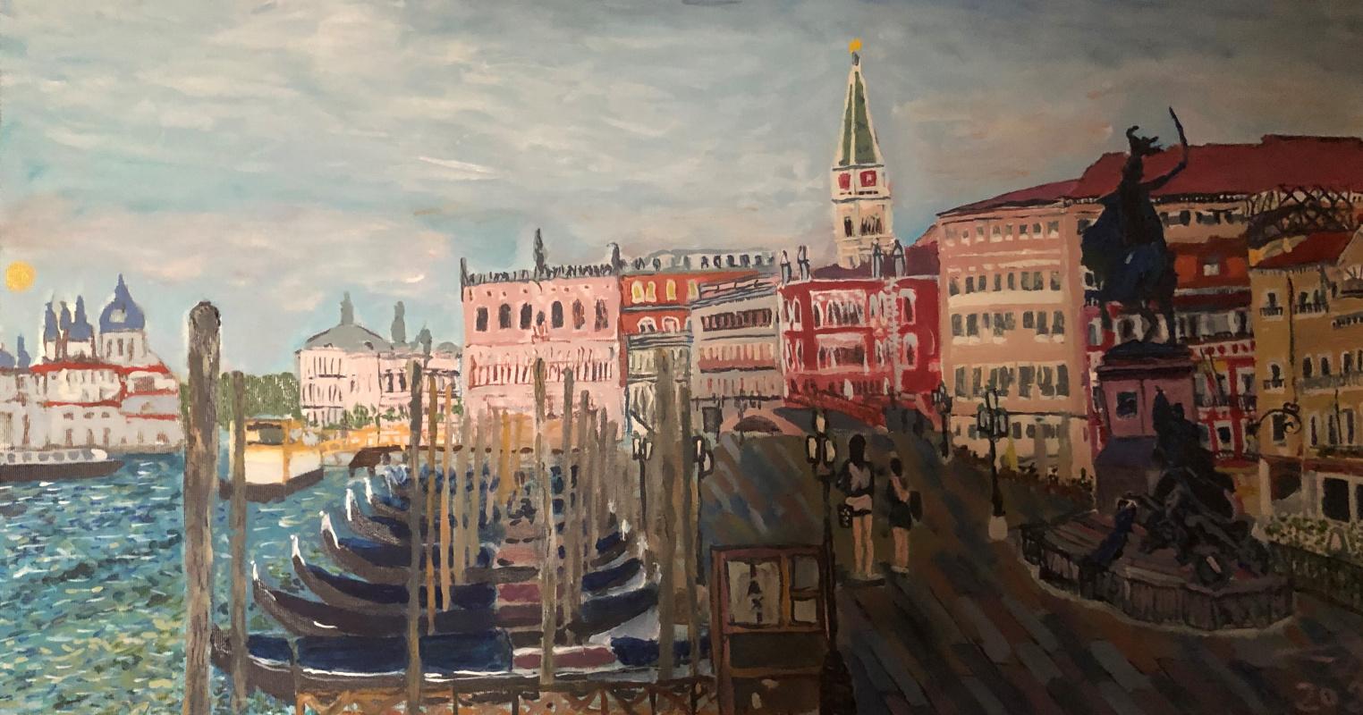 Sergey Vladimirovich Sebini. Venice. Dawn Panorama.