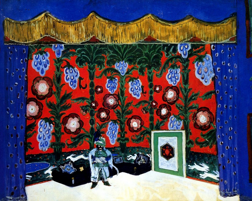 "Alexander Nikolaevich Benoit. Room Moor. Design for ""Petrushka"" by I. Stravinsky"
