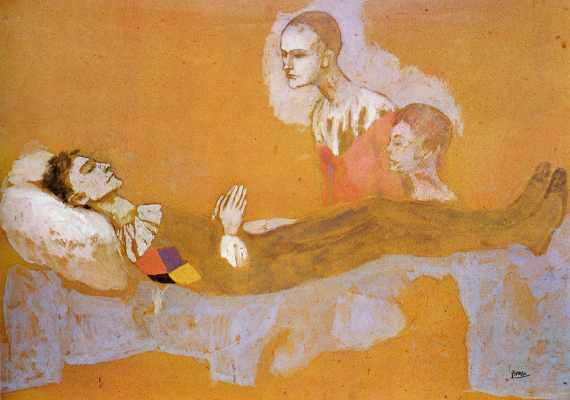 Pablo Picasso. Death Of Harlequin
