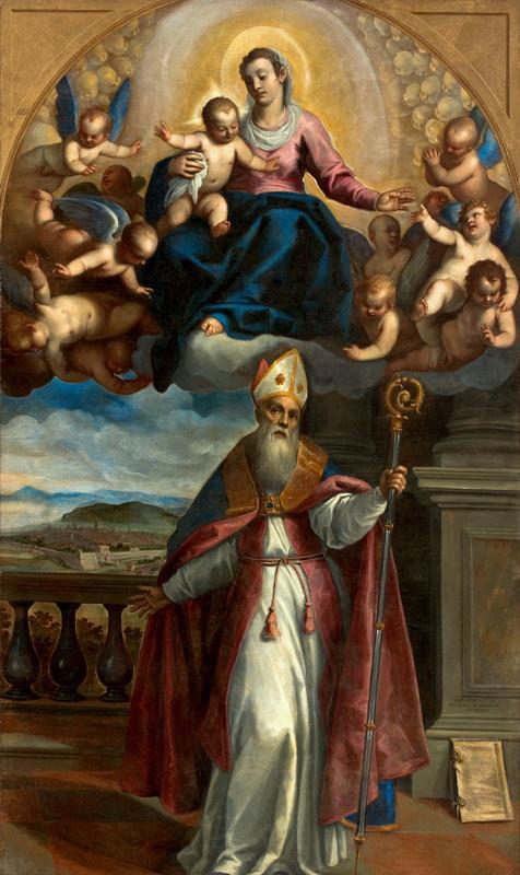 Джакомо Пальма Младший. Явление Богоматери с Младенцем святому Убальду Губбио