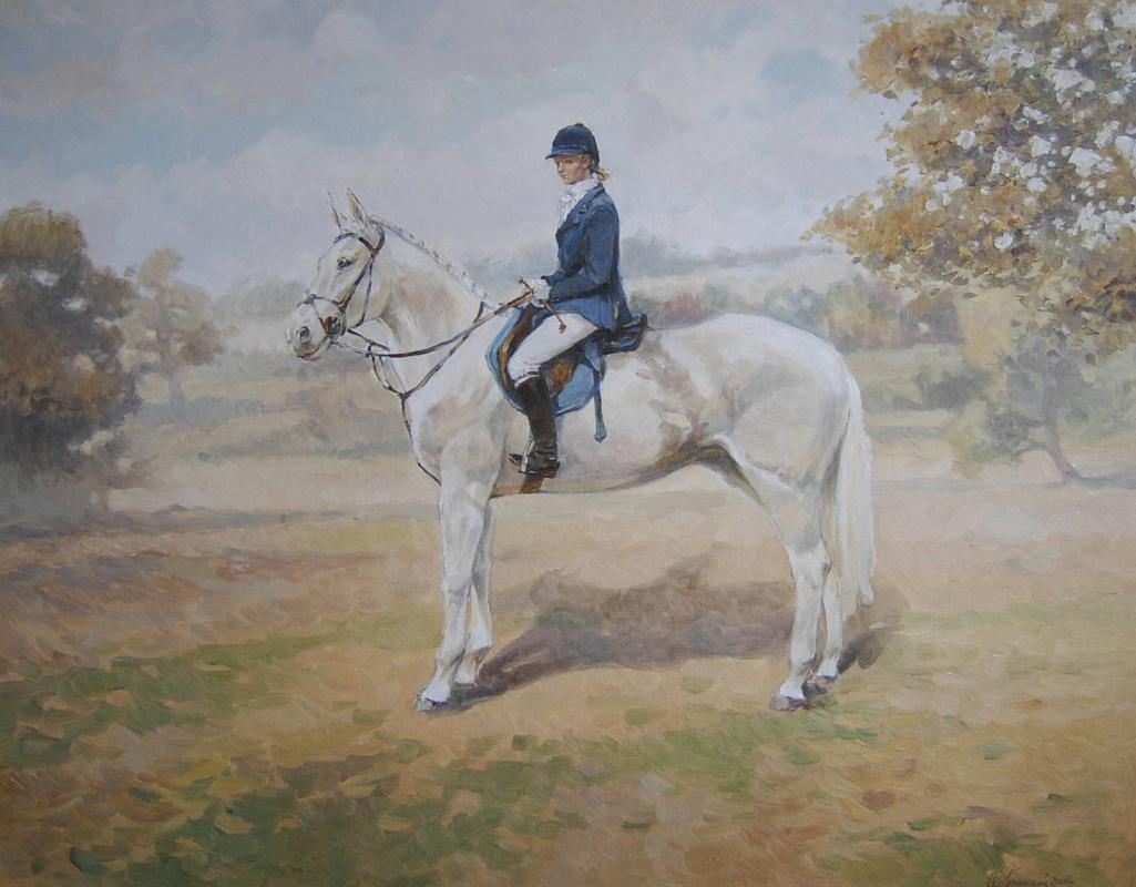 George Lapchinsky. Horse ride