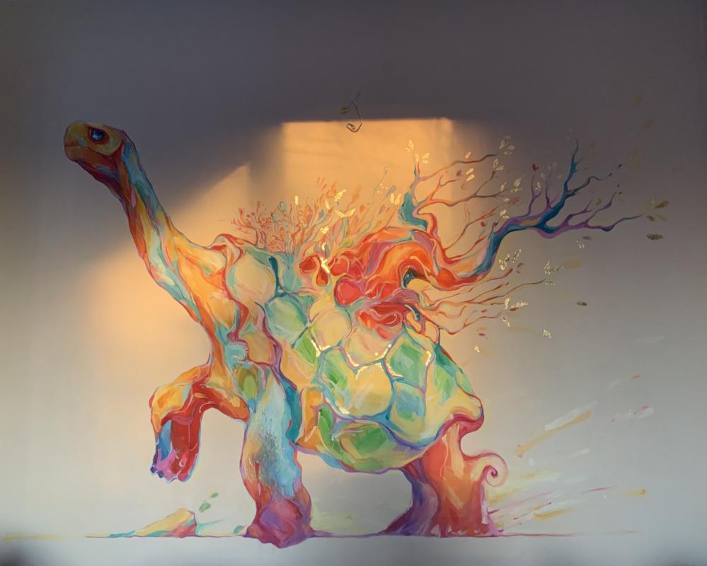 Erica Fox. Чезер. Роспись стен.