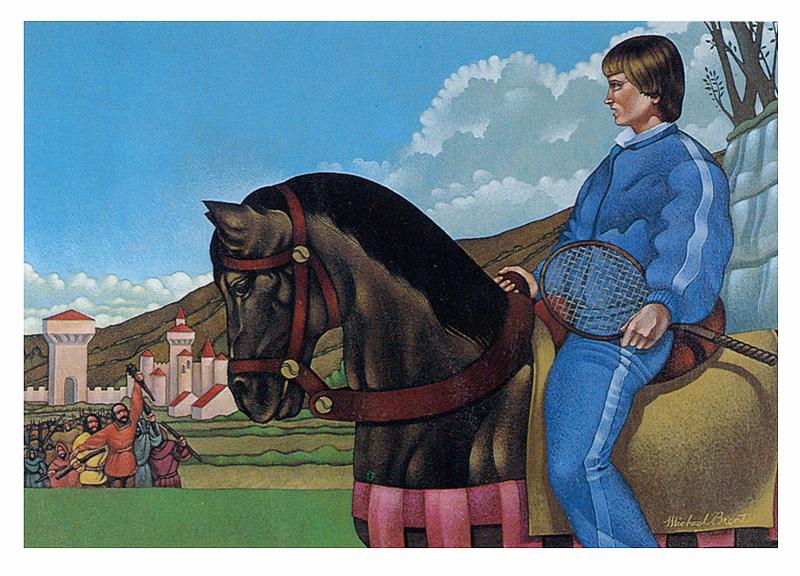 Mike Brent. On horseback