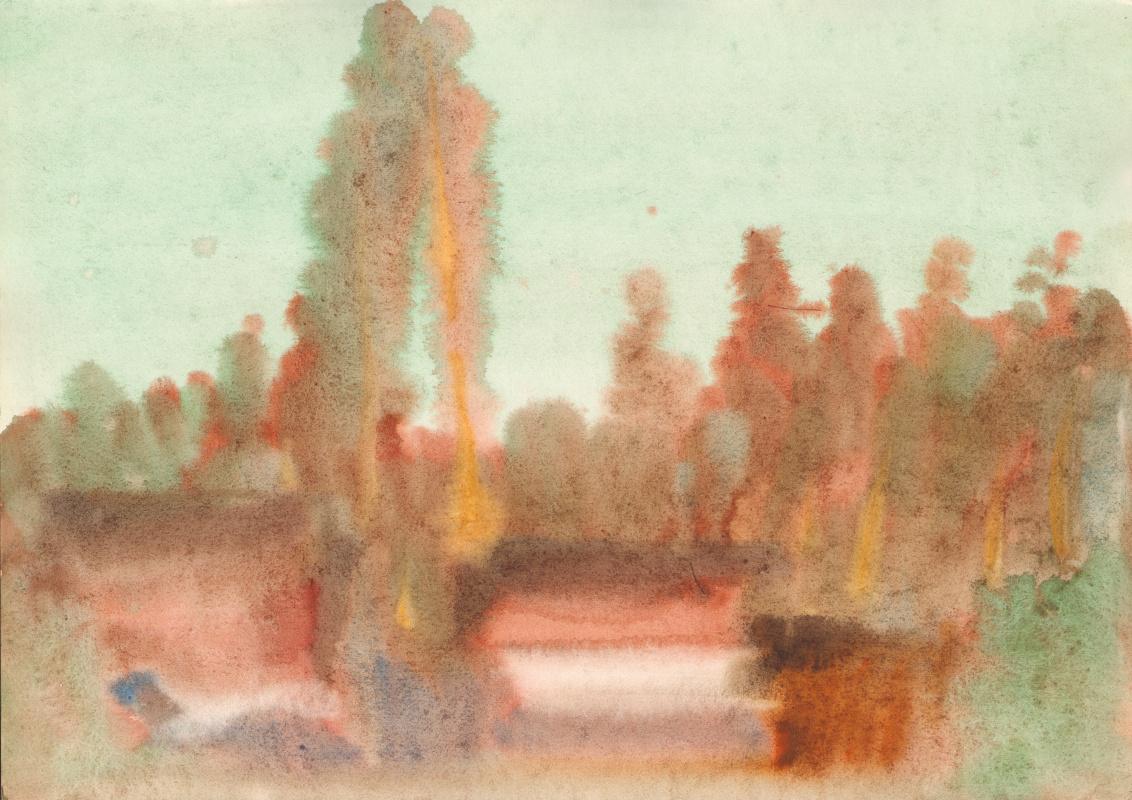 Вячеслав Крыжановский. Pines beyond the hill (state 1).