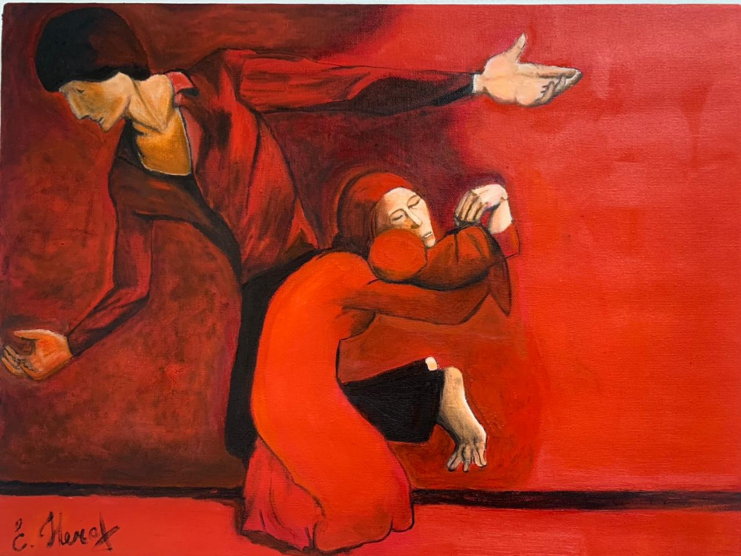 Elena Alexandrovna Nechaeva. Harmony in red