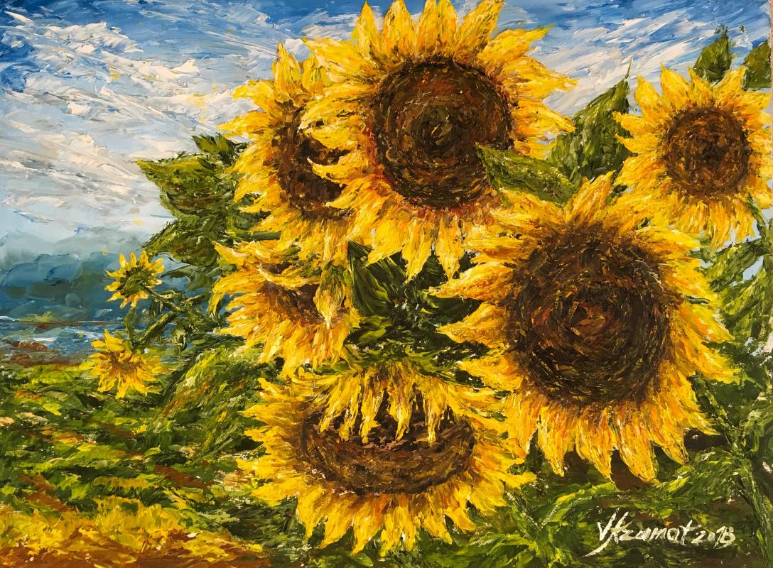 "Valerika Azamat. ""Delighted by the sun"""