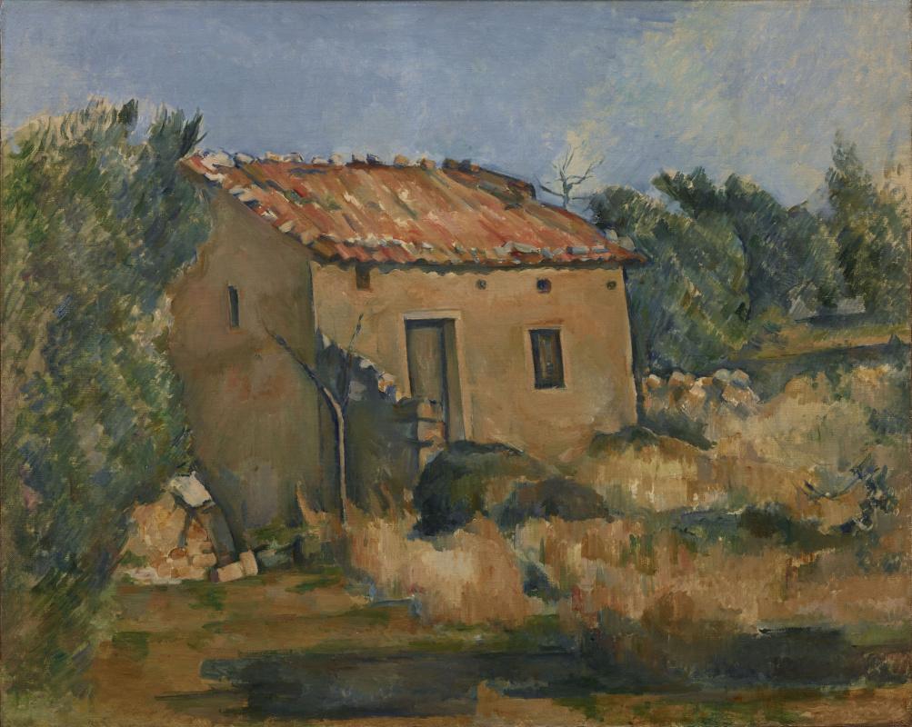 Paul Cezanne. Abandoned house near AIX-EN-Provence
