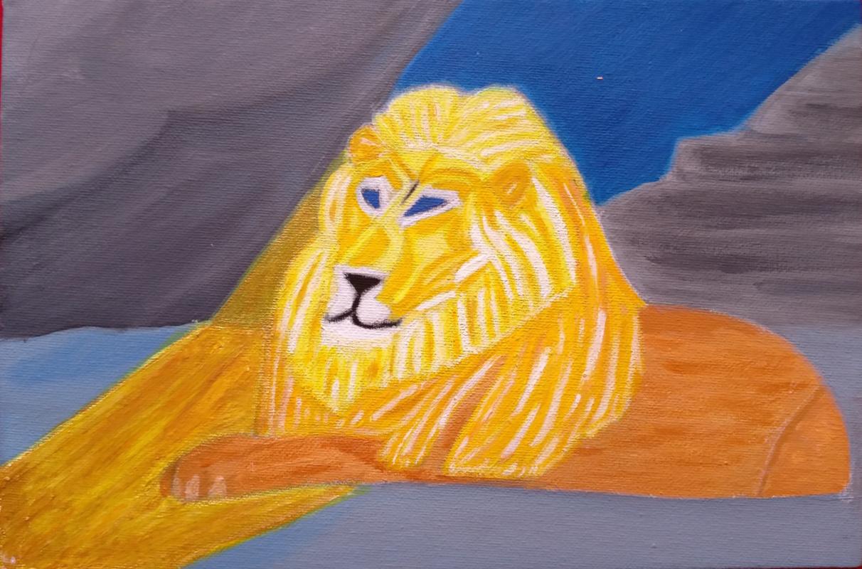 Natalia Viktorovna Rassadina. Lion looking at the prophet Daniel