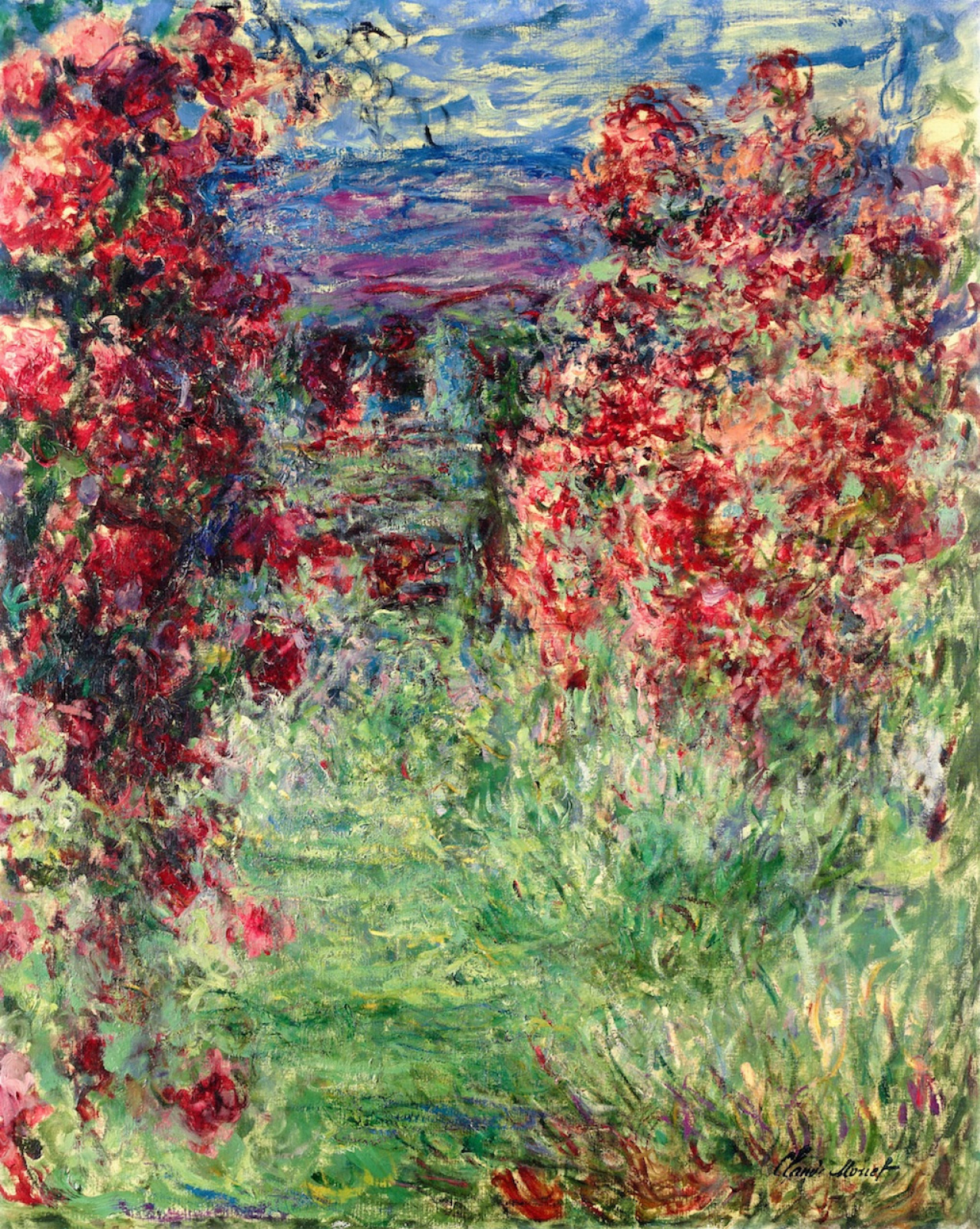 Claude Monet. The house among the roses