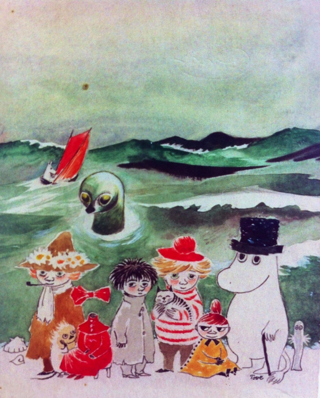 Tove Jansson. The cover of the book T. Jansson about the Moomin