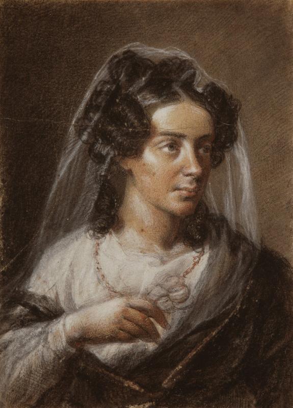 Valentine Mel'chiorovich Vankovich. Portrait of the sister of Stanislava Gornovskaya
